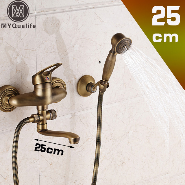 Aliexpress.com : Buy Long Nose Bathroom Tub Mixer Wall Mounted 360 ...