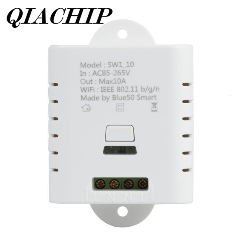 QIACHIP WiFi Switch Smart Home Automation Module APP Remote Control Share Control Work with Amazon Alexa Google Home DS35 wireless wifi switch smart home automation module timer diy light wall switch app control work with amazon alexa voice control
