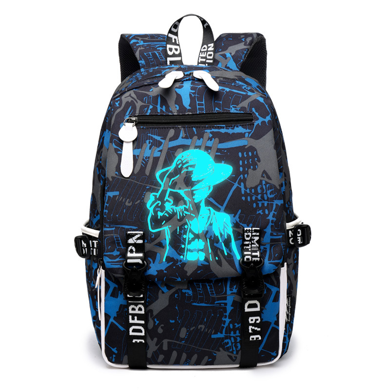 цены Men fashion Women's Student Cartoon School Bags Casual Backpack Fashion Noctilucent Men's Backpack Anime Luminous Teenagers Bag