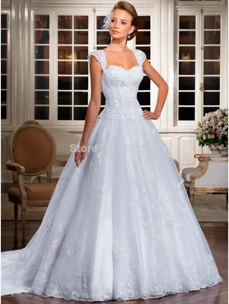 21Stunning Sweetheart Neckline Sheer Straps Lace/Applique Ball Gown ...