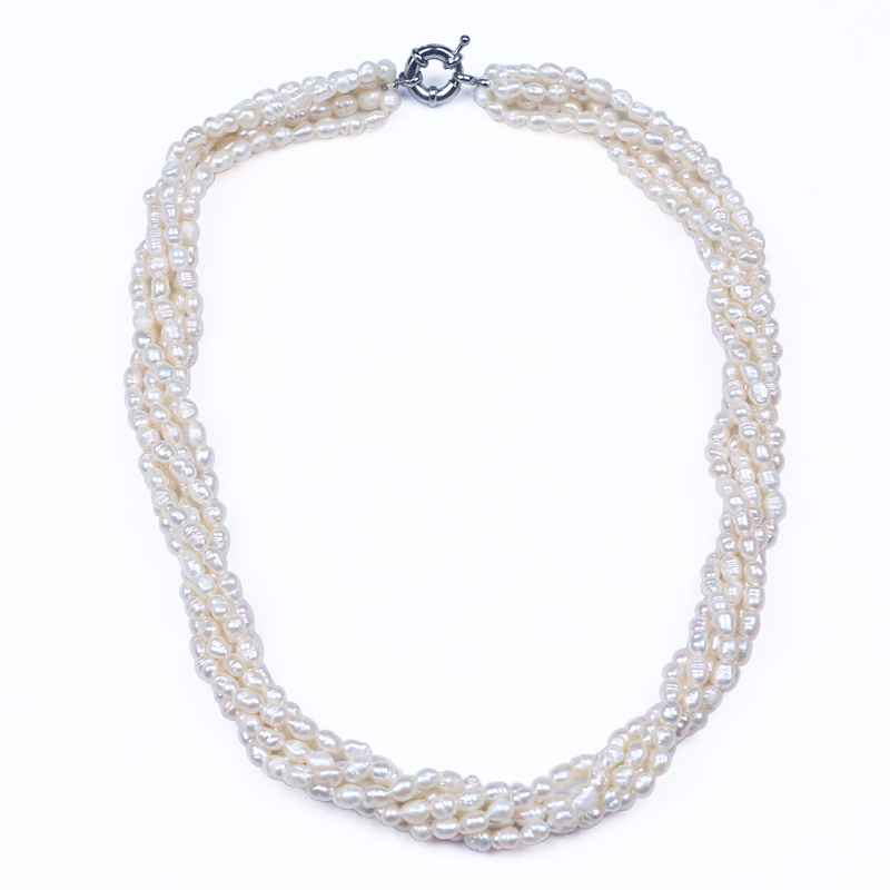 Modern necklace and bracelet design multi layered pearl bridal ...
