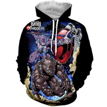 PLstar Cosmos Drop Shipping  Black Panther Thunder cats Crossover 3D Print Fashion Hoodies Women/Mens Casual Hooded Sweatshirt