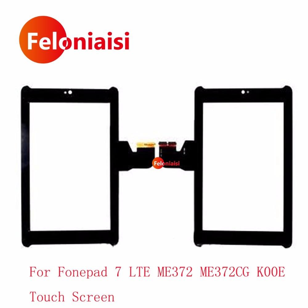 High Quality 7.0 For Asus Fonepad 7 LTE ME372 ME372CG K00E Touch Screen Digitizer Sensor Outer Glass Lens Panel+Tracking hot sale touch screen for asus fonepad 7 fe375 fe375cg fe375cxg me375 glass digitizer panel replacement black