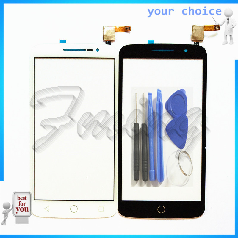 Phone <font><b>Touch</b></font> Panel Sensor Touchscreen For Alcatel One <font><b>Touch</b></font> POP 2 OT <font><b>7043</b></font> OT7043 <font><b>Touch</b></font> Screen Front Glass Digitizer Parts image