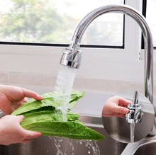 Faucet Extenders Water Tap Filter Extender Booster Saver 2 Modes 360 Rotating Spray Head