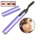 New High Quality Portable Pen Style Electric Heated Makeup Eye Lashes Long Lasting Eyelash Curler Purple Appearance