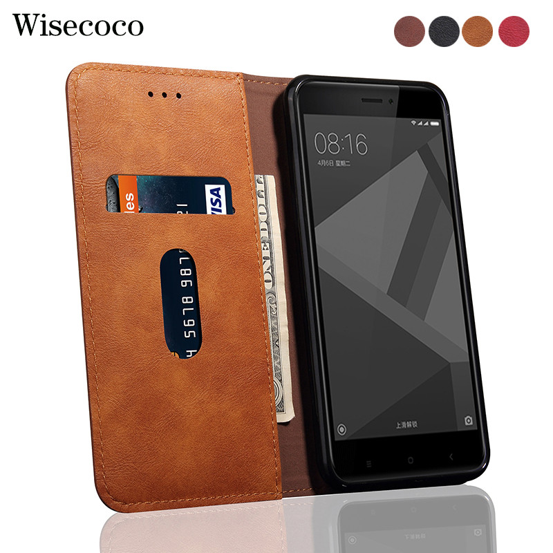 Flip Case For Xiaomi Redmi 4x Luxury Leather Wallet Stand Redmi4x Card Slot 360 full Phone Cases cover For Xaomi mi redmi 4x 4 x