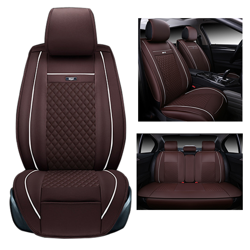 Full Set Auto Seat Cover Custom Fit For Buick Encore Cover Seats Car Accessories Linen Seat Covers&Supports Beige Car Cushions high quality car seat covers for lifan x60 x50 320 330 520 620 630 720 black red beige gray purple car accessories auto styling