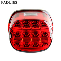 FADUIES For Harley Complete tail lamp assembly License Plate Tail Light Layback LED Tail Lamp For Harley Davidson