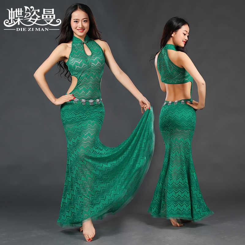 4ce52f0925d ... 2017 г. фирменная одежда живота Танцы костюм профессиональный для Для женщин  живота Танцы платье zm091 ...