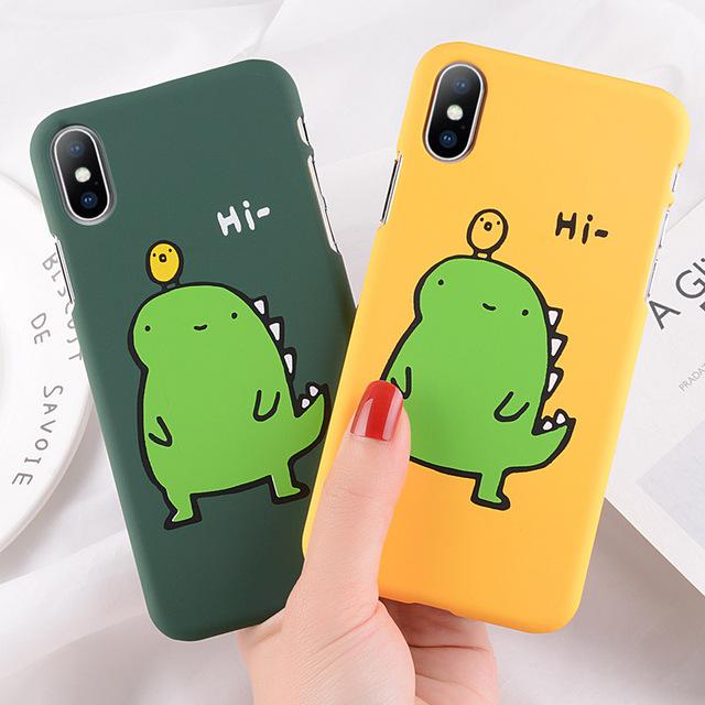 Cute Cartoon Phone Case For iphone 7 Plus Cactus/Elk/Chick
