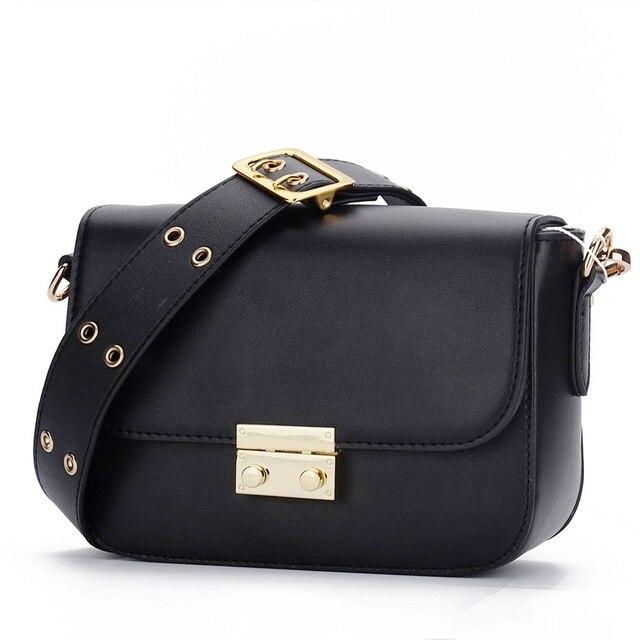 43d53e733cc07 2018 Wide Strap Crossbody Bags For Women Lock Vintage Luxury Handbags Women  Bags Designer Split Leather Shoulder Bags Fashion