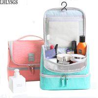 LHLYSGS Brand New Women Large Waterproof Makeup Bag Nylon Travel Cosmetic Bag Organizer Case Need Make