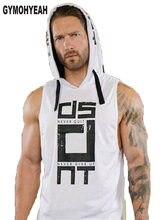 37683c5da72 GYMOHYEAH hommes sweat à capuche en coton Sweatshirts fitness vêtements  bodybuilding débardeur hommes sans manches t