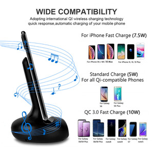 Image 4 - Protefeuille Qi Wireless Charging Charger 15W Stand For Samsung Galaxy S10 S9 Plus Note 10 Xiaomi mi9 mix 2s Chargeur Induction