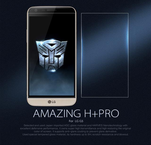 Nillkin H + pro Anti explosión premium vidrio templado para el LG G5 0.2 mm cristal protetcor