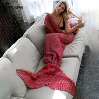 CWLSP Knitted Mermaid Princess fishTail Blankets Warm Sofa Winter Autumn Popular bottoms menina pijama inverno