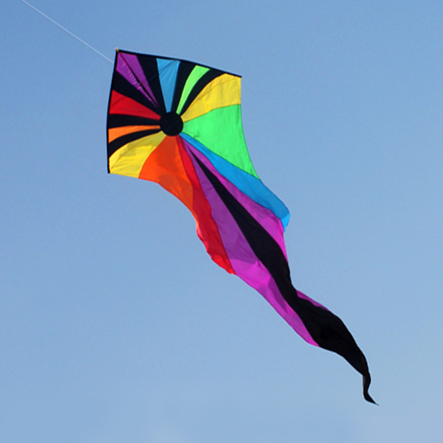 ФОТО Emmakites 6.5M Kite Flying Single Line Power Triangle Kites Popular Rainbow Ghost Kite With Tail Outdoor Toys For Children Adult