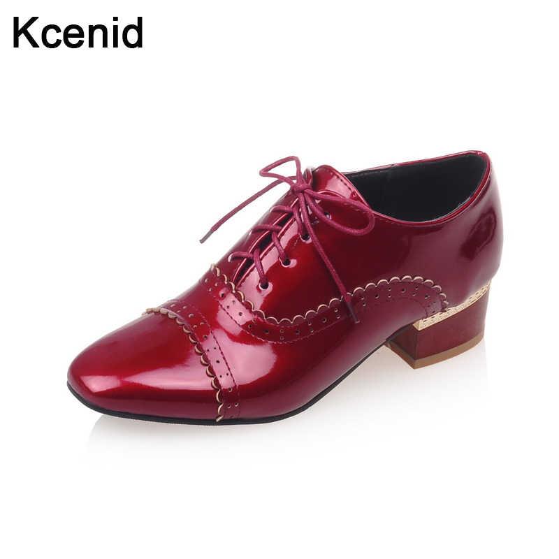 1bea9895d Kcenid/Большие размеры 32-46, весенне-осенние новые туфли из лакированной  кожи