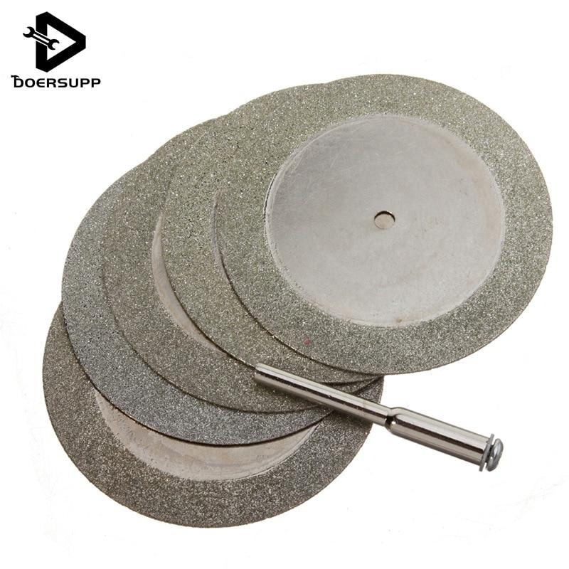Precio al por mayor 5pcs 50mm Discos de corte de diamante y broca para cuchilla de herramienta giratoria