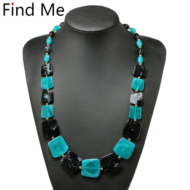Find Me 2018 fashion power geometric statement necklace & pendants vintage long chains collar choker necklace for women Jewelry