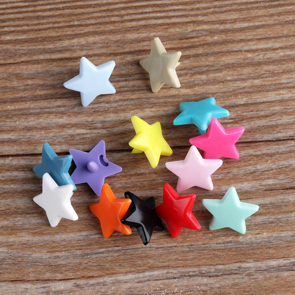 10set(40pcs) DIY Scrapbooking Star Plastic Fasteners  Press Button Snap Buttons Clothes Shirts Sewing Accessories