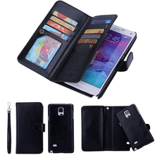 2 в 1 Магнитная Бумажник PU Кожаные чехлы для Galaxy S8 плюс S7 EDGE/iPhone 5 6 6S плюс 7 Plus 9 Слот для карты съемный магнитный чехол