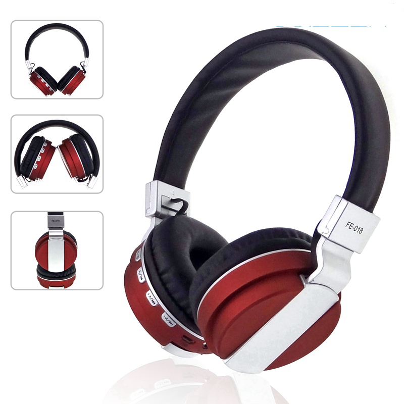 FREZEN Stereo Foldable Wireless Headphone Bluetooth Headset FM Radio Card With Microphone Noise Canceling For IPhone PC Pad LG
