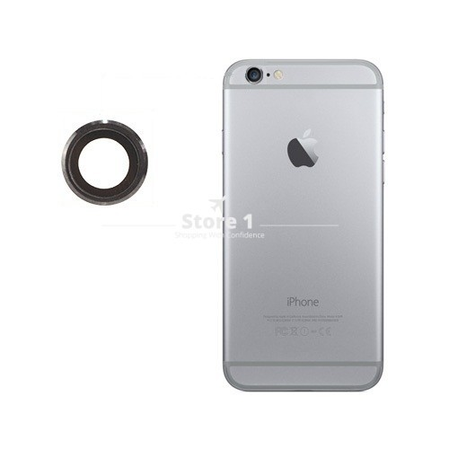100% Original for Apple iPhone 6 Camera Lens; Sapphire Crystal Back Camera Glass Lens with Frame for iPhone 6 4.7 inch 10
