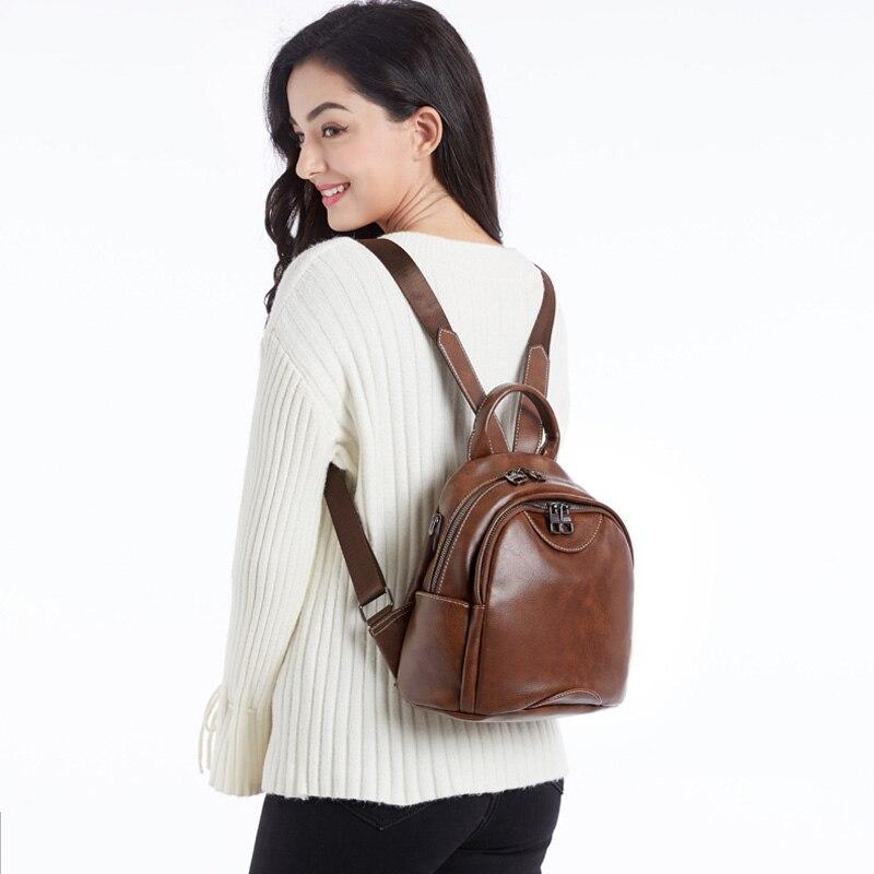 Poche En À Black fonctionnelle Backpack Dos Pu Multi Sac Petit Sacs Brown Urbaine Pour Cuir De Femmes Pomelos Marque Backpack Mode deep Adolescentes Les Femme Rqt0Yw