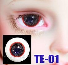 14mm 16mm BJD Eyes black pupil shinny red Eyeballs for 1 3 1 4 1 6