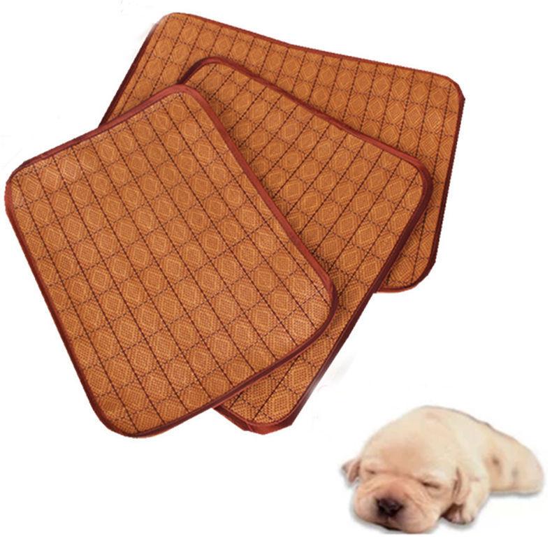multiuso asiento mascota perro gato cojn de estera de bamb para dormir cama tatami