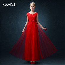 Fashion Lace Bridesmaid Dresses Elegant Red Bride Gown Sexy Backless Long Ball Prom Party Homecoming/Graduation Formal Dress women dress long party ball prom gown sleeveless formal bridesmaid lace dresses