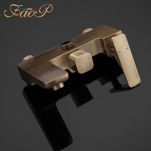 Image 3 - FAOP Shower system gold bathroom shower sets brass waterfall shower heads faucet for bathroom mixer luxury rainfall faucets