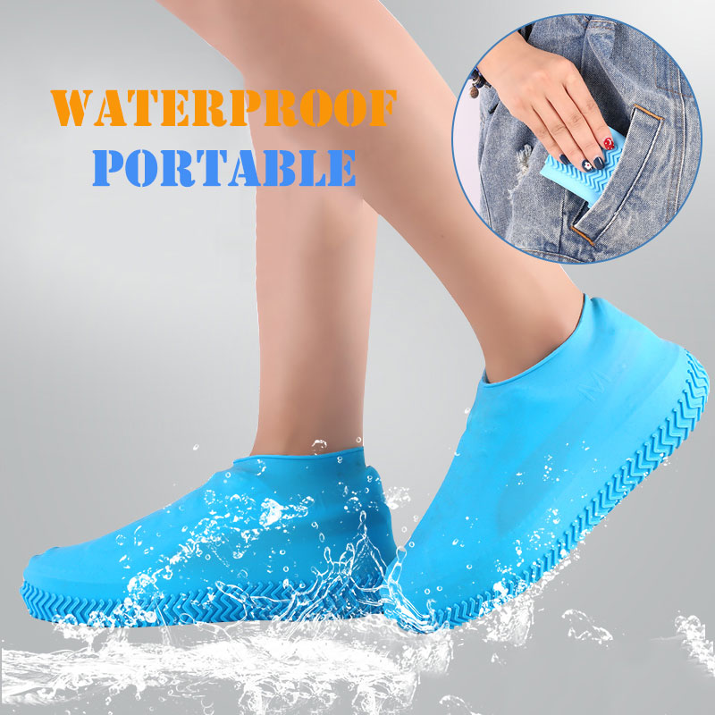 Reusable Silicone Boot And Shoe Covers Waterproof Rain Socks Silicone Rubber Shoe Protectors For Indoor Outdoor
