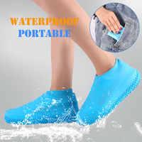 Reutilizável silicone bota e sapato cobre meias de chuva à prova dwaterproof água protetores de sapato de borracha de silicone para interior ao ar livre
