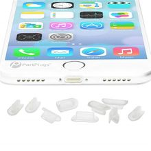 50 Set Anti Dust Plugs 8 Pin Charging Port 3.5mm Headphone Hole Plug for Apple