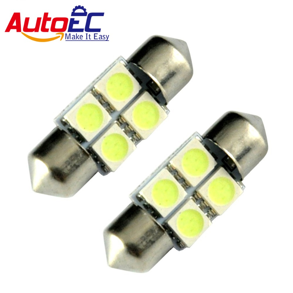 Autoec 31mm 36mm 39mm 41mm 4smd 5050smd C5w Interior Festoon Car Base Led Bulbs Light Super Bright Leds Bulb Auto Lamp 300pcs Lk113 In Signal From Automobiles Motorcycles On