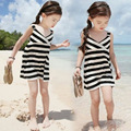 New Arrival Girls Summer Dresses Toddler Baby Girls Striped Beach Dress Clothes Casual Bohemian Black  Free Shipping