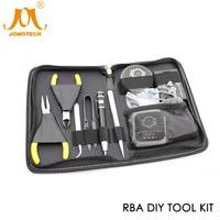E Sigaretta Vapore RBA Atomizzatore Coil Tool Kit FAI DA TE con Tensione Ohm Tester/Kanthal Filo/Cotone di Silice per RTA RDTA RDA Jomo-36