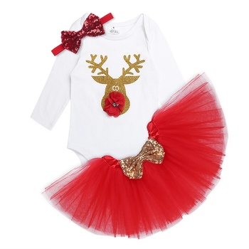 Christmas 3pcs Baby Girl Dress 1