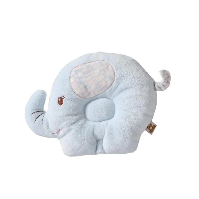 Redxiao Cartoon Ornaments Soft Anti Roll Sleeping Pillow Breathable Cloth Velvet Lovely Sleep Positioner Pillow Shaping Baby Head Shape Infant