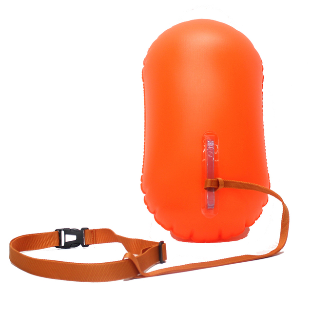 Lightweight Thickening PVC Swimming Buoy Safety Float Air Dry Bag Tow Float Swimming Inflatable Flotation Bag Swimming Aid Bag
