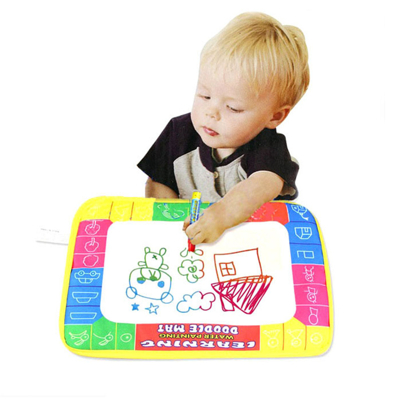 Drawing Toys Hospitable New Water Drawing Painting Writing Mat Board Magic Pen Doodle Gift 29x19cm Coloring Books For Kids Coloriage Enfant Drawing Toys