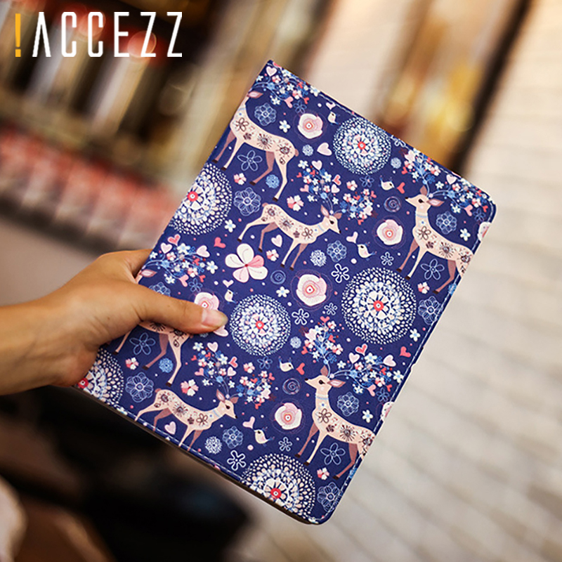"4 2 3 !ACCEZZ Cartoon Flip Cover Tablet Sleeve For iPad Mini 1 2 3 4 7.9"" inches Holder Stand Smart Sleep Wake Up Full Protective Case (3)"