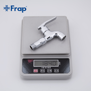 Image 5 - FRAP High quality Brass Copper Kitchen Faucet Quick Opening Single Cold Tap Washing Machine Crane F521 F522
