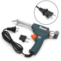 220 V 60 W Auto Lassen Elektrische Soldeerbout Temperatuur Pistool Soldeer Tool Kit met EU Adapter Plug