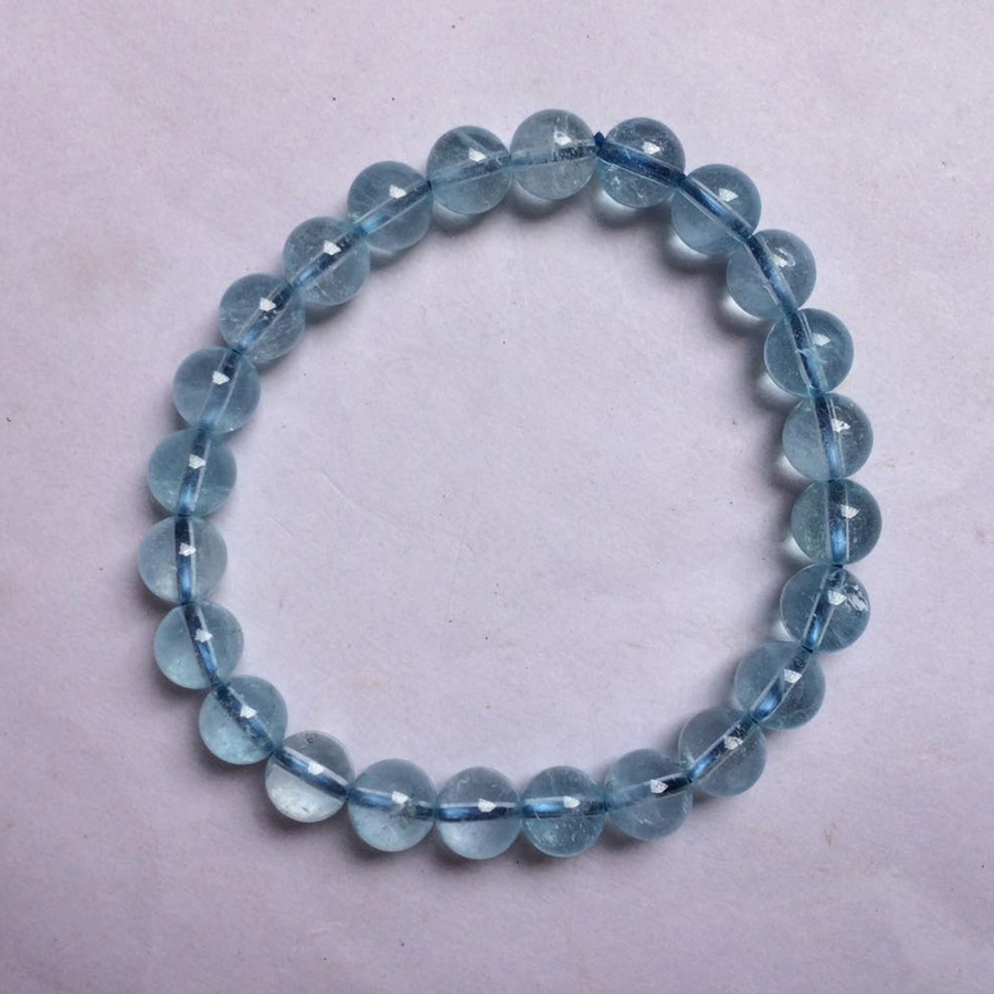 7mm Natural Topaz Stone Beads Bracelet Natural Gemstone Bracelet For Woman For Gift Wholesale !