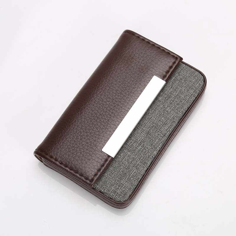 d90172a2315 High Quality Men's Wallet Leather Visiting Cards Credit Card Holder Case Wallet  Business Card Package Tarjetero
