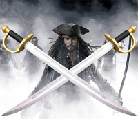 Pirates of The Caribbean Captain Jack Sparrow Weapons Wooden Sword John Depp Cosplay Sword Role Play Prop Children Safe Toy/Gift